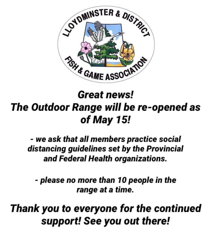 Outdoor Range Re-Open May 15